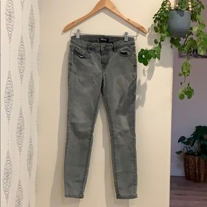 Gray skinny stretch jean